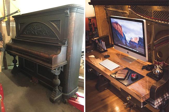 Превращение пианино 1907 года в эксклюзивный рабочий стол