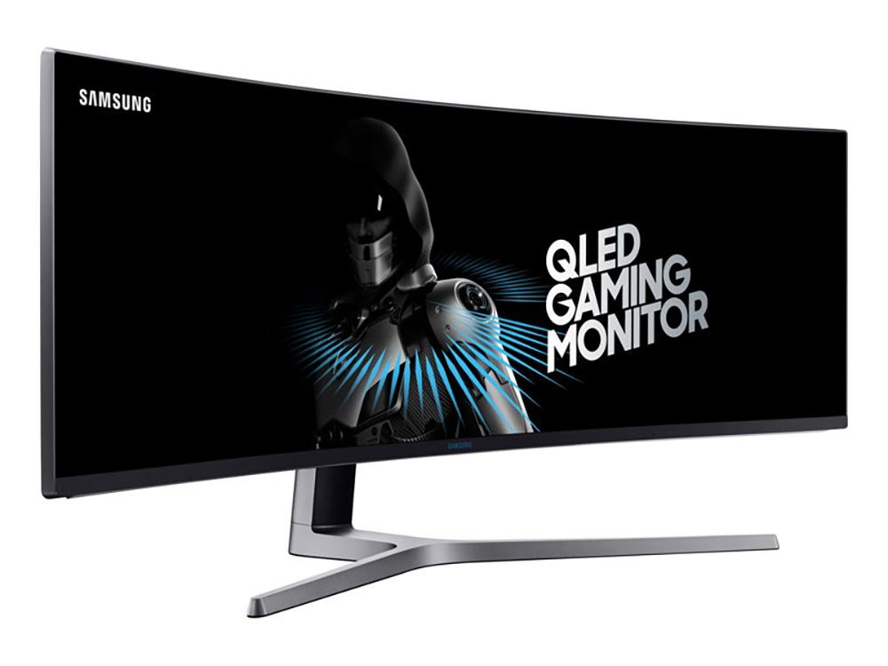 фронтальный вид монитора Samsung CHG90 QLED