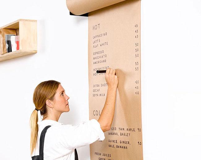 Бумажный ролл как альтернатива грифельной доске