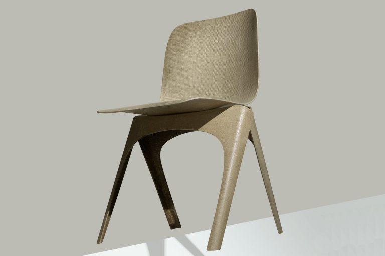Полностью биоразлагаемый стул из льна