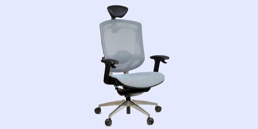 Эргономичное кресло с кожаным подголовником GTCHAIR Marrit