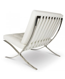 Barcelona Style Chair & Ottoman