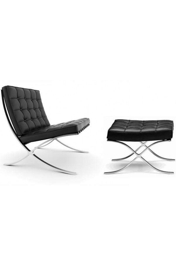 Кресло Barcelona Style Chair & Ottoman