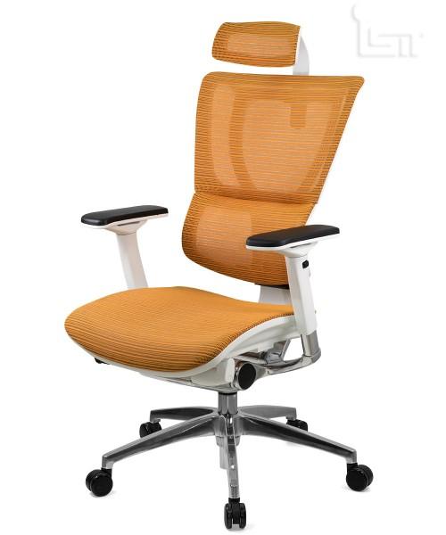Эргономичное кресло в белом корпусе Mirus