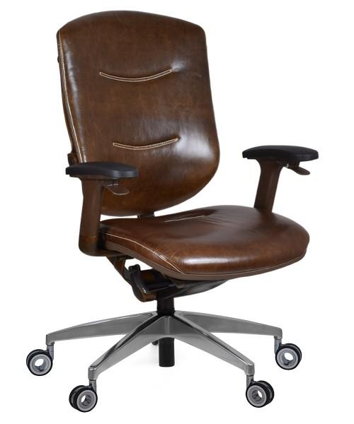 Кресло из натуральной кожи Marrit Retro Executive
