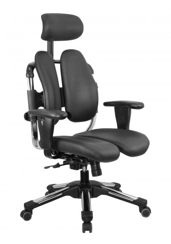 Кожаное кресло с двойной спинкой Cobra L