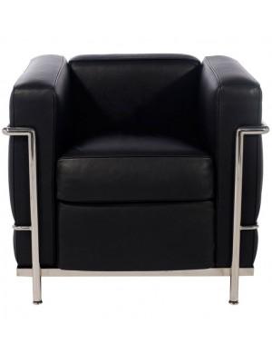 Кресло Le Corbusier Style LC2 черная кожа
