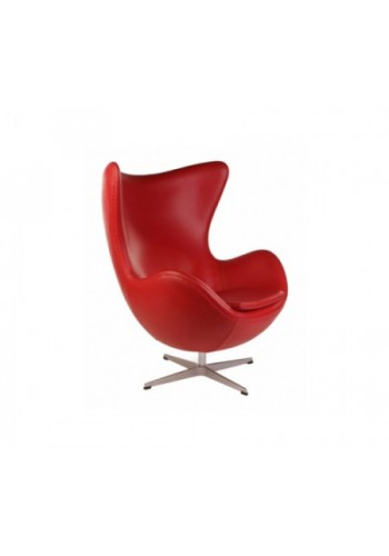 Кресло Arne Jacobsen Style Egg Chair кожа