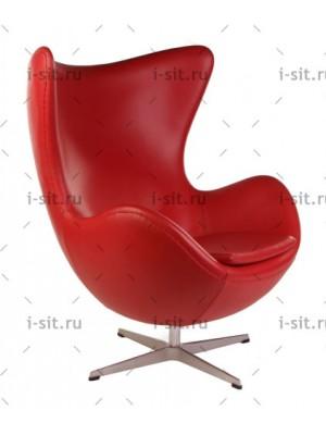 Кресло Arne Jacobsen Style Egg Chair кожа