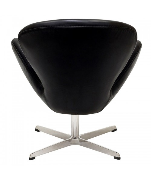 Кресло Arne Jacobsen Style Swan Chair кожа