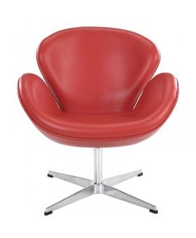 Кресло Arne Jacobsen Style Swan Chair кожа