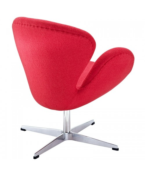 Кресло Arne Jacobsen Style Swan Chair шерсть