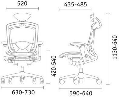 Размер кресла Contessa