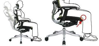 Кресло компьютерное ERGOHUMAN эргономичное черное. Описание 2.
